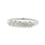 Ladies Elegant Classic Estate Platinum Diamond Anniversary Ring Band - 0.50CTW