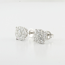 Ladies Divine 2.56 Carats Total Custom Made 14K White Gold Diamond Stud Earrings