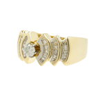 Exquisite Vintage Classic Estate 14K Yellow Gold Ladies Diamond Ring - 0.65CTW