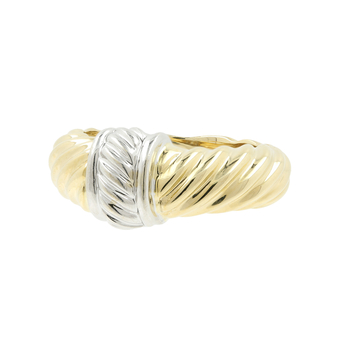 Ladies Vintage Classic Estate 14K Yellow & White Gold Cocktail Ring