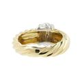 Ladies Vintage Classic Estate 14K Yellow & White Gold Cocktail Ring