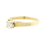 Elegant Estate 14K Yellow Gold Round Diamond Solitaire Engagement Ring - 0.25CTW