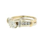 Ladies Estate 14K Yellow Gold Diamond Wedding Ring Two Piece Jewelry Set 0.70CTW