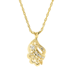"Exquisite Ladies Estate 14K Yellow Gold Diamond 0.28CTW Pendant & 15"" Necklace"