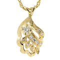 "Exquisite Estate Ladies 14K Yellow Gold Diamond Pendant & 15"" Necklace - 0.28CTW"