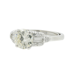 Vintage Estate Ladies Platinum Round Cut Diamond Engagement Ring - 1.45CTW