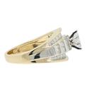 Estate Ladies 14K Yellow & White Gold Marquise & Round Diamond Ring - 1.23CTW