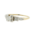 Vintage Classic Estate Ladies 14K Yellow Gold Diamond Engagement Ring - 0.19CTW