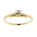 Ladies Vintage Classic Estate 14K Two-Tone Gold Diamond Engagement Ring