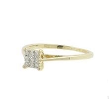 Elegant Classic Estate Ladies 10K Yellow Gold Diamond Engagement Ring - 0.12CTW