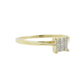Elegant Classic Estate Ladies 10K Yellow Gold Diamond Engagement Ring - 0.12CTW
