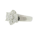Estate Ladies 14K White Gold Fancy Diamond Rosita Cluster Promise Ring - 1.40CTW