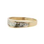 Vintage Classic Estate Ladies 14K Yellow Gold Diamond Ring Band - 0.33CTW