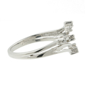 Exquisite Classic Estate Ladies 10K White Gold Diamond Bypass Ring - 0.10CTW