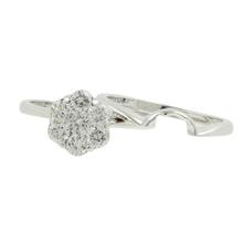 Estate Ladies 14K White Gold Fancy Diamond Rosita Cluster Ring Set - 0.75CTW