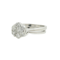 Estate Ladies 14K White Gold Fancy Diamond Rosita Cluster Ring Set - 0.75CTW