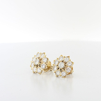 Fine Estate Heirloom Quality Yellow Gold 3.06CT Round Diamond Screwback Earrings