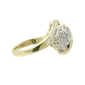 Ladies Classic Estate 10K Yellow Gold Bypass Diamond Cluster Ring - 0.64CTW