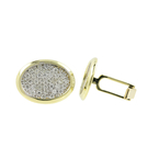 Ladies Mens Vintage Classic Estate 14K Yellow Gold Diamond Cufflinks - 1.44CTW