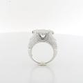 Stunning Mens Or Ladies Custom Made 4.02 Carat Total Diamond 14K White Gold Ring
