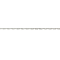 Ladies Men's Unisex 10K White Gold Wheat Spiga Chain Necklace - 20 inch