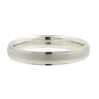 Men's Modern 14K White Gold Brushed & Polished Wedding Ring Band Size 10 - New