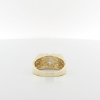 Mens Handsome 1.60CTW Round Diamond Classic Pattern 14K Yellow Gold Jewelry Ring