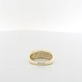 Heirloom Quality Ladies 14K Yellow Gold Round & Emerald Cut Diamond Jewelry Ring