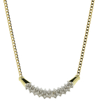 Classic Estate Ladies 14K Yellow Gold Diamond Pendant & Chain Necklace - 18 inch