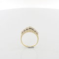 Ladies Heirloom Pyramid Shaped Round 1.05CTW Diamond 14K Yellow Gold Ring