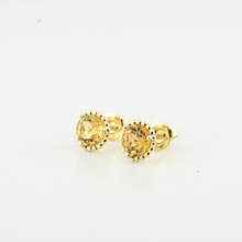 Authentic Tiffany & Co 18K Yellow Gold Citrine Gemstone Earring Studs