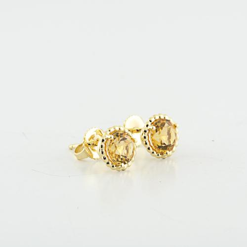 b04249ea7 Authentic Tiffany & Co 18K Yellow Gold Citrine Gemstone Earring Studs