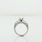 Stunning 2.13CTW Round Diamond 14K White Gold Ladies 1.01 Center Engagement Ring