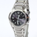 Men's Citizen Eco-Drive E111-K006368 Titanium Solar Powered Black Dial Watch