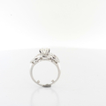 Jaw Dropping Over Half Carat Solitaire Diamond Ladies 14K White Link Gold Ring