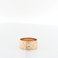 Hermes Kelly 18K Rose Gold Ladies Diamond Ring 100% Authentic