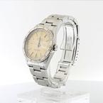 Rolex Cream Dial Turn-O-Graph Thunderbird SS & 18K White Gold Bezel Watch 16264