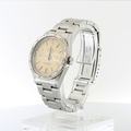 Rolex Cream Dial Turn-O-Graph Thunderbird SS & 18K White Gold Bezel Watch 16264