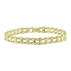 Men's Vintage Classic Estate 10K Yellow Gold Ladder Link Bracelet - 8 Inch