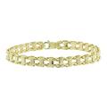 Men's Vintage Classic Estate 10K Yellow Gold Ladder Link Bracelet - 8 Inch