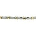 Ladies Stunning Estate 10K White Yellow Gold Diamond Tennis Bracelet - 3.00CTW