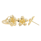 Ladies Classic Estate 18K Yellow Gold Floral Design Ring & Earrings Jewelry Set