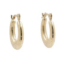 Elegant Vintage Classic Estate Ladies 14K Yellow Gold Hoop Saddle Back Earrings