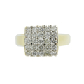 Ladies Vintage Classic Estate 14K Yellow Gold Diamond Cluster Cocktail Ring - 1.25CTW
