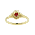 Ladies Classic Estate 14K Yellow Gold Red Spinel & Diamond Halo Ring - 0.60CTW