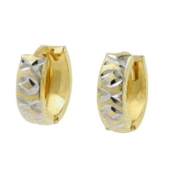 Stunning Vintage Classic Estate Ladies 14K Yellow Gold Huggie Hoop Earrings