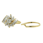 Vintage Estate Ladies 14K Yellow Gold Diamond Wedding Ring Set Jewelry - 1.18CTW