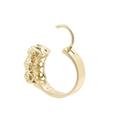 Estate Ladies 12K Yellow Gold Mine Cut Diamond Hoop Latch Back Earrings - 1.20CTW