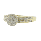 Exquisite Ladies Classic Estate 10K Yellow Gold Diamond Ring Jewelry - 0.47CTW