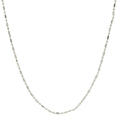 Ladies Vintage Classic Estate 14K White Gold Fancy Bead Chain Necklace - 24 inch